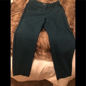 Express Columnist Green Ankle Pants-Never worn 2R